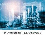 stock market or forex trading... | Shutterstock . vector #1370539013