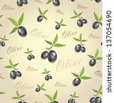 Olives From Branches On A Gray...