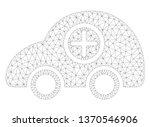 mesh ambulance car polygonal 2d ... | Shutterstock .eps vector #1370546906