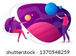 colorful vector illustration on ... | Shutterstock .eps vector #1370548259