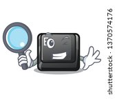 detective e button attached to...   Shutterstock .eps vector #1370574176