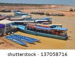 Tonle Sap Cambodia Lake March...