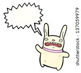 crazy cartoon rabbit   Shutterstock . vector #137059979