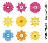 flower silhoutte icons...   Shutterstock .eps vector #1370604380