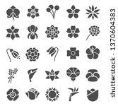 flower silhoutte icons...   Shutterstock .eps vector #1370604383