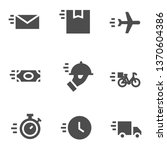 fast delivery icons   Shutterstock .eps vector #1370604386