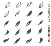 feather icons collection   Shutterstock .eps vector #1370604389