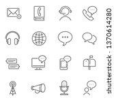 communication line icons   Shutterstock .eps vector #1370614280