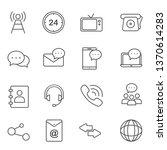 communication line icons   Shutterstock .eps vector #1370614283