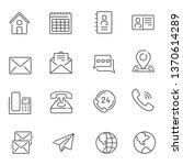 communication line icons   Shutterstock .eps vector #1370614289
