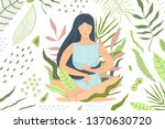 woman meditation in nature... | Shutterstock .eps vector #1370630720