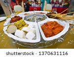 lemang  nasi himpit and chicken ... | Shutterstock . vector #1370631116