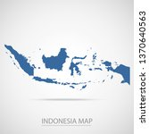 indonesia map. blue indonesia...