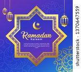 ramadan kareem islamic eid... | Shutterstock .eps vector #1370647559