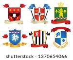 simple style heraldic set vector   Shutterstock .eps vector #1370654066