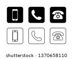 phone icon vector. call icon... | Shutterstock .eps vector #1370658110