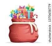 bag full gifts christmas new... | Shutterstock . vector #1370658779