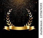 realistic gold laurel wreath... | Shutterstock .eps vector #1370674193