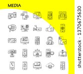 media hand drawn icon for web ...