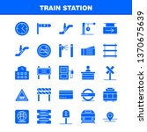 train station solid glyph icons ...