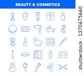 beauty and cosmetics line icon...