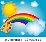 cloud  sun  rainbow vector...   Shutterstock .eps vector #137067593