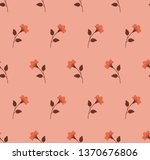repeat botanical pattern.... | Shutterstock .eps vector #1370676806