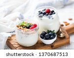 Natural greek yogurt with fresh ...