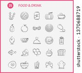 food and drink hand drawn icons ...