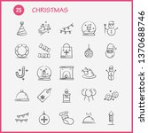 christmas hand drawn icon for...