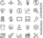 thin line vector icon set  ... | Shutterstock .eps vector #1370690270