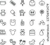 thin line vector icon set  ...   Shutterstock .eps vector #1370691479