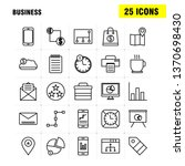 business  line icons set for...