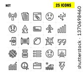 net line icons set for...