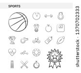 sports hand drawn icon set... | Shutterstock .eps vector #1370702333