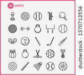 sports  line icons set for...