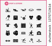 sport and extreme solid glyph...