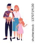 couple with children | Shutterstock .eps vector #1370719130