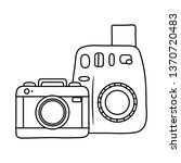 photographic cameras icon black ... | Shutterstock .eps vector #1370720483