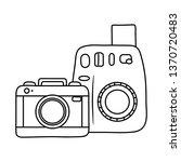 photographic cameras icon black ...   Shutterstock .eps vector #1370720483