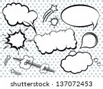 collection of comic style... | Shutterstock .eps vector #137072453