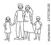 couple with children   Shutterstock .eps vector #1370728130