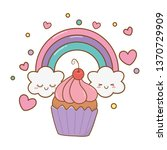 muffin and rainbow | Shutterstock .eps vector #1370729909