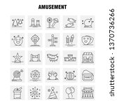 amusement line icon for web ...