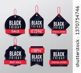 pack black friday sale labels | Shutterstock .eps vector #1370754746