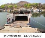 Off road vehicle loading on a ferry at Lake Kariba lake