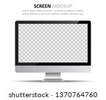 screen mockup. computer monitor ... | Shutterstock .eps vector #1370764760