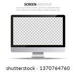 screen mockup. computer monitor ... | Shutterstock .eps vector #1370764760