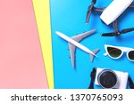 hi tech travel gadget and... | Shutterstock . vector #1370765093
