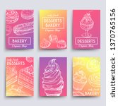 hand drawn dessert and bakery... | Shutterstock .eps vector #1370765156